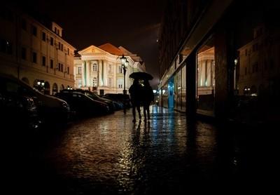 Rainy walk.