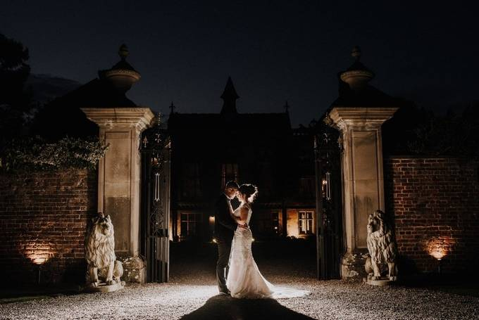 Romance in a light of a flash by marcinkogut - Weddings At Night Photo Contest