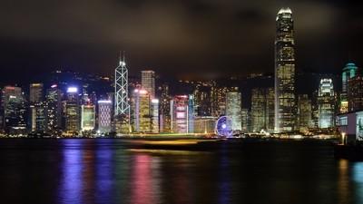 Hong Kong Star Ferry Light Trail