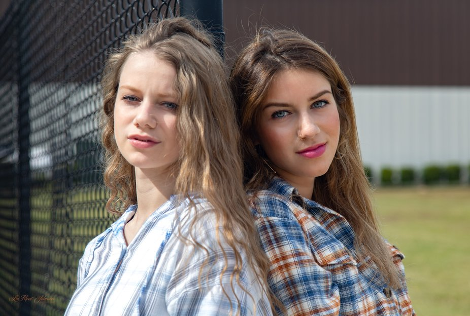 Selection from a recent fashion photo session with models Gabby and Analiese Bavelacqua