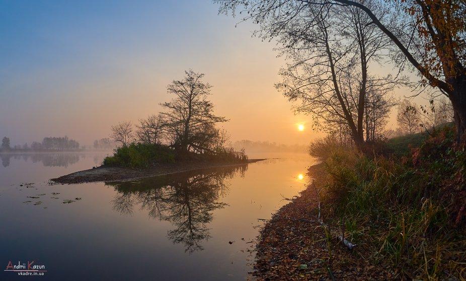 Wonderful sunrise on a lake