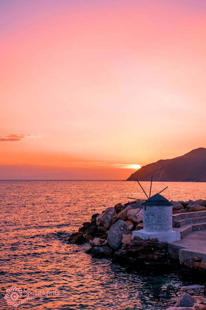 Aegiali Sunset