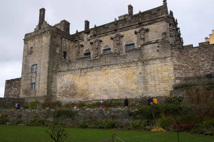 The Royal Palace above Queen Annes Garden at Stirling Castle.