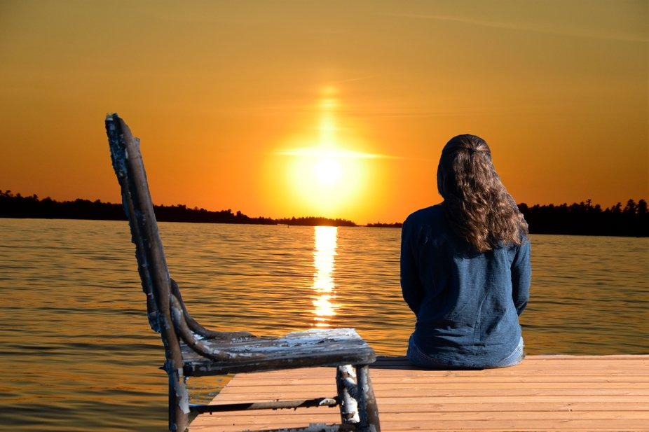 Kazia enjoying the sunset!