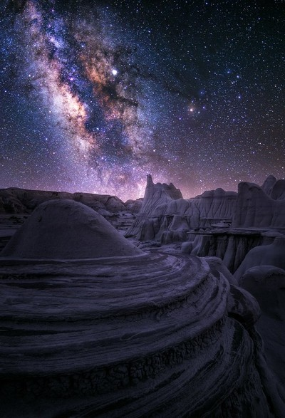"""Had some of the most peaceful nights shooting out in these alien lands. Some of the most bizarre hoodoo """"rooms"""" made me feel like I could stay here for a month. Here, I spent a lot of time from dusk to dawn, which allowed me to create some twilight focus"""