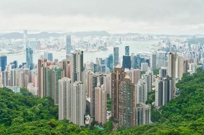 Overlooking Hong Kong from Victoria Peak