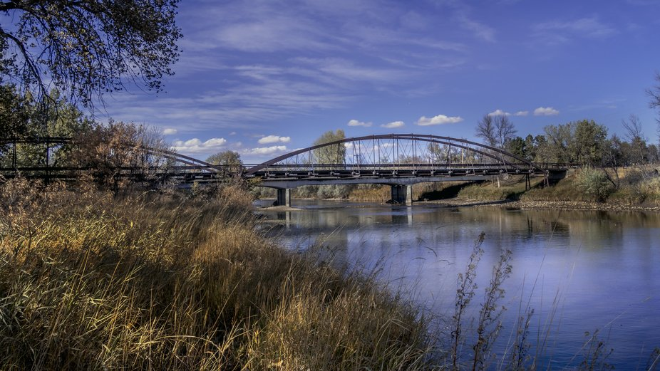 """""""OLD ARMY BRIDGE OVER THE PLATTE RIVER Erected 1875 This bridge was a vital link between..."""