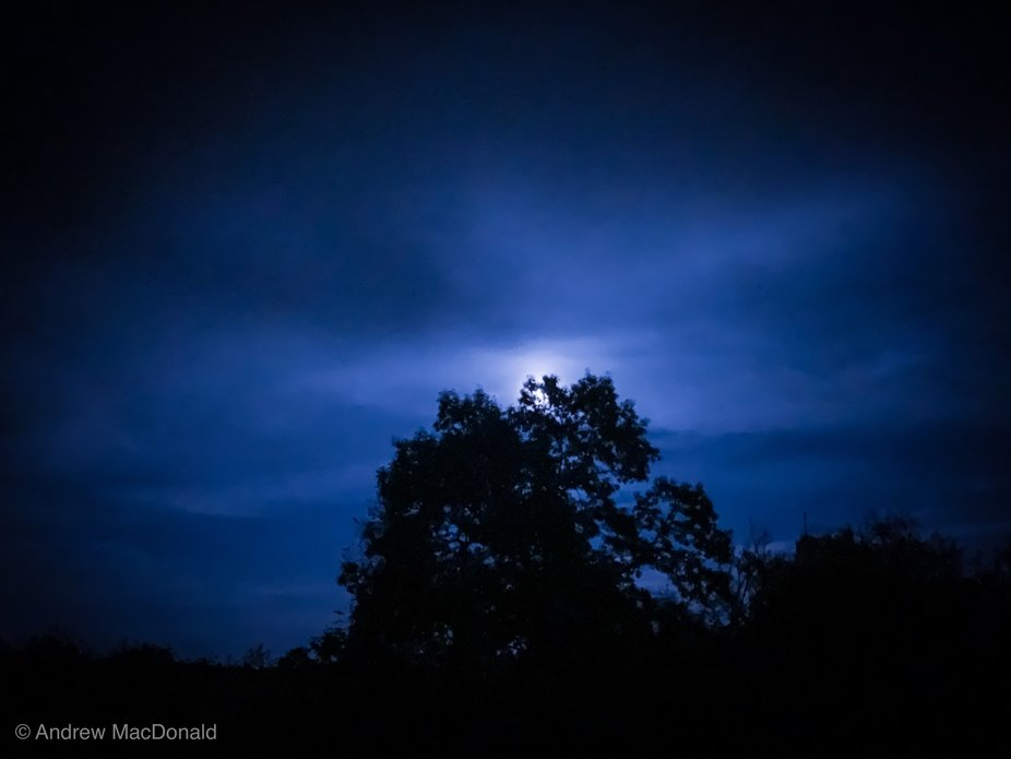 Hunter Moon October New Hampshire