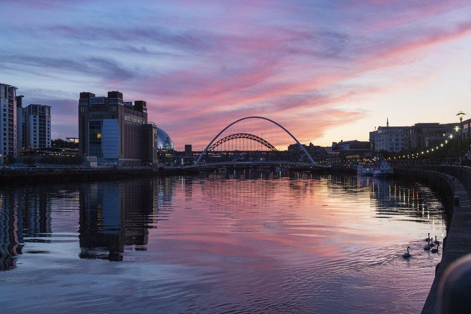 Sunset over the Tyne Bridge, Newcastle