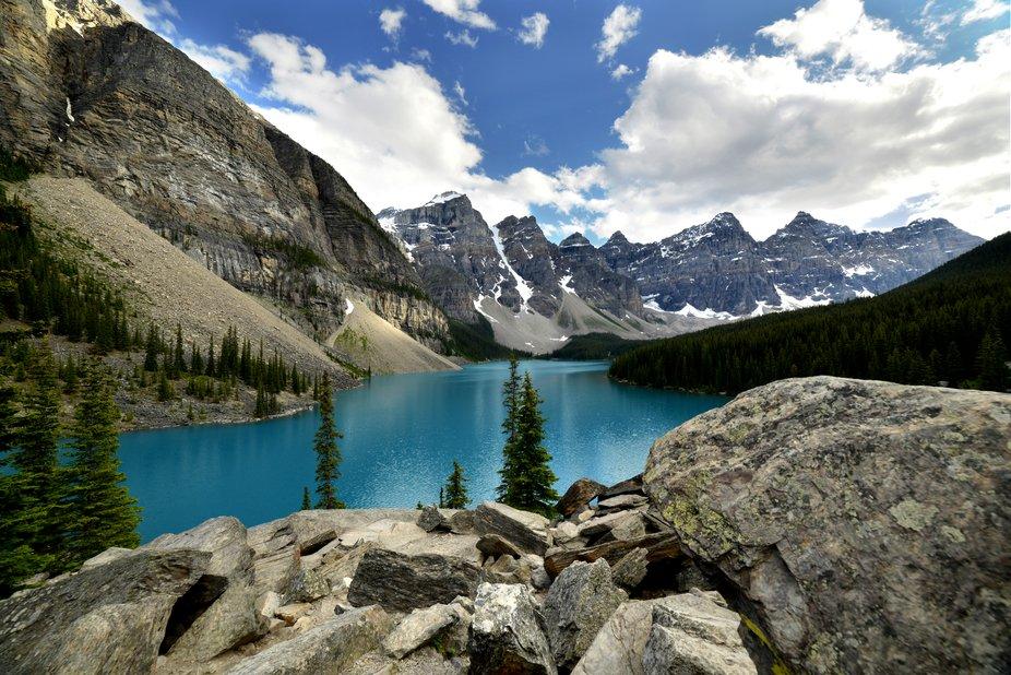 Summer shot of Moriane Lake.