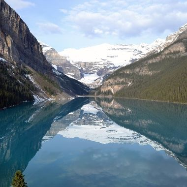 Another view of Lake Louise Canada from our hotel room