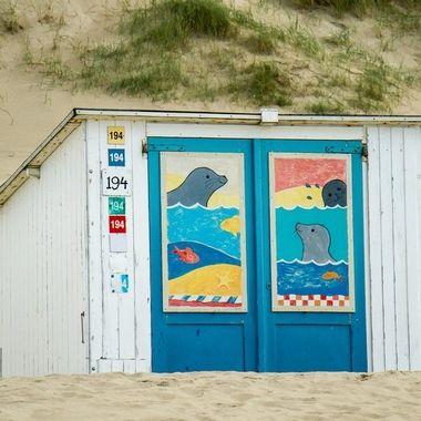 Decorated beach house, Texel, Holland