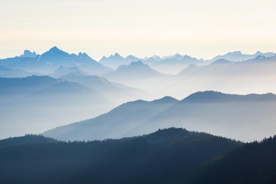 Mountain Layers in Washington.