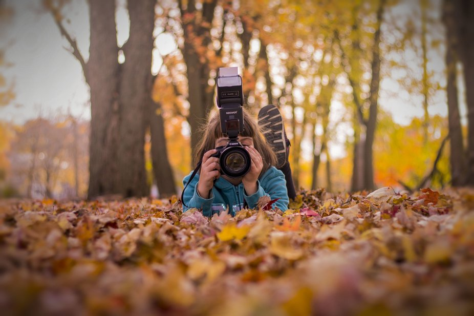 After some fall family photos for some friends, one of the children wanted to take some photos. S...