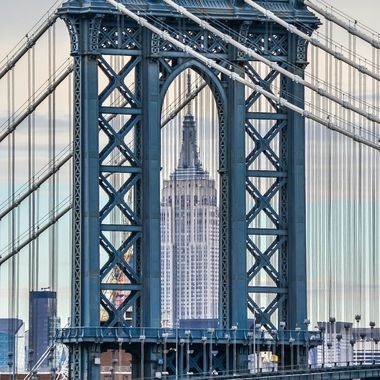 Empire State Building within the Manhattan Bridge