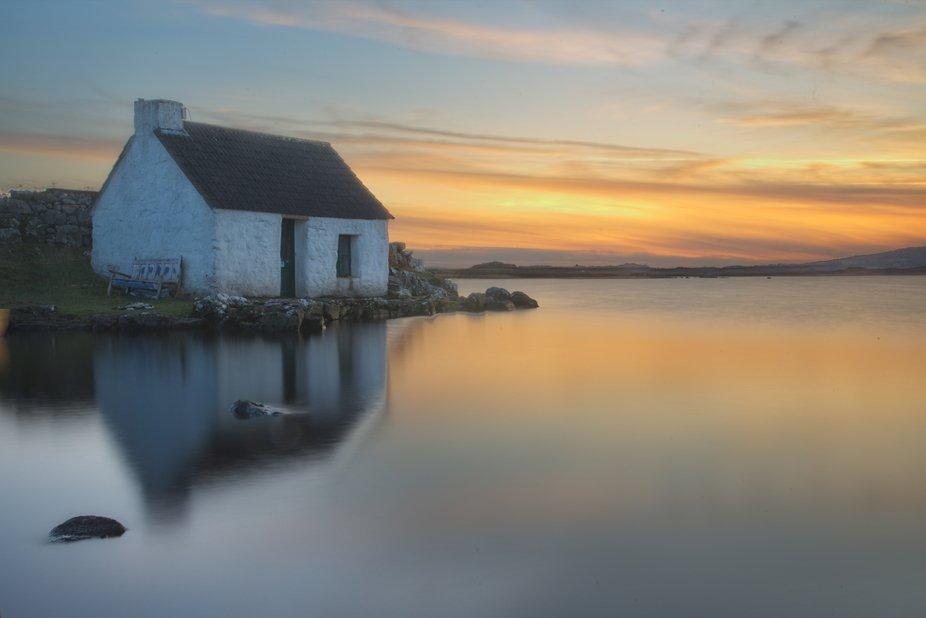 sunset hut
