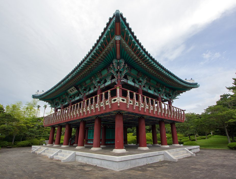 One of the old buildings in South Korea