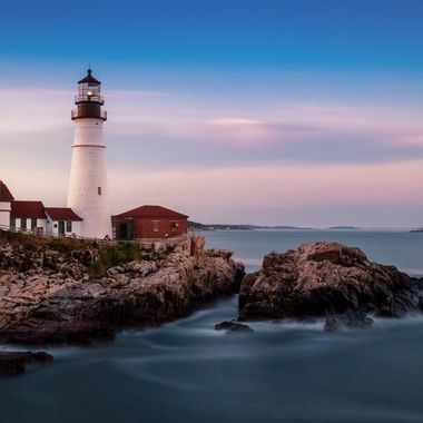 This is a new edit on an old photo.  Taken in 2017, long exposure of the Portland Head Lighthouse in Cape Elizabeth Maine.