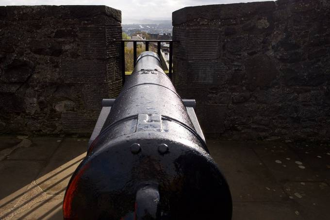 Georgian cannon at Stirling Castle.