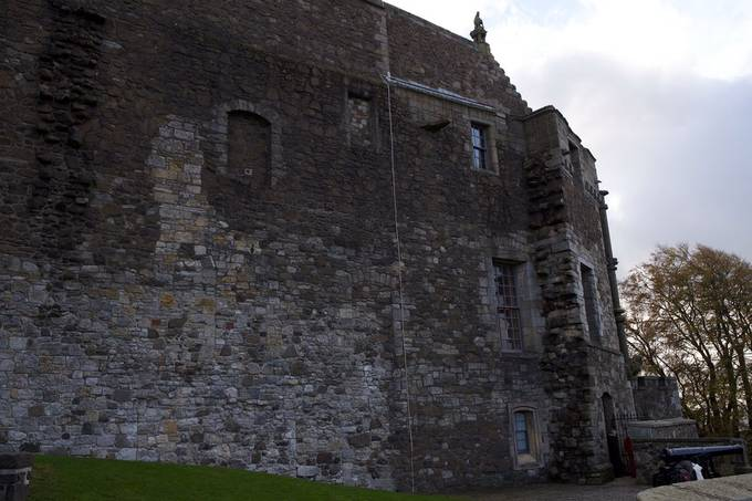South side, above the cliff edge at Stirling Castle.