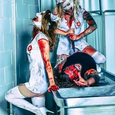 These Nurses help prepare your body, and soul for deliverance to Hell! A Grimm style shoot.