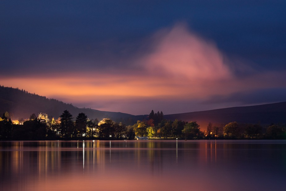 Sunrise brings out some fantastic colours, Loch Lomond Scotland