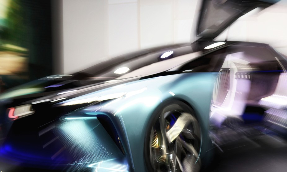 This is the new Lexus shot at the Tokyo Motor show in Nov 2019. The effect was achieved in camera.
