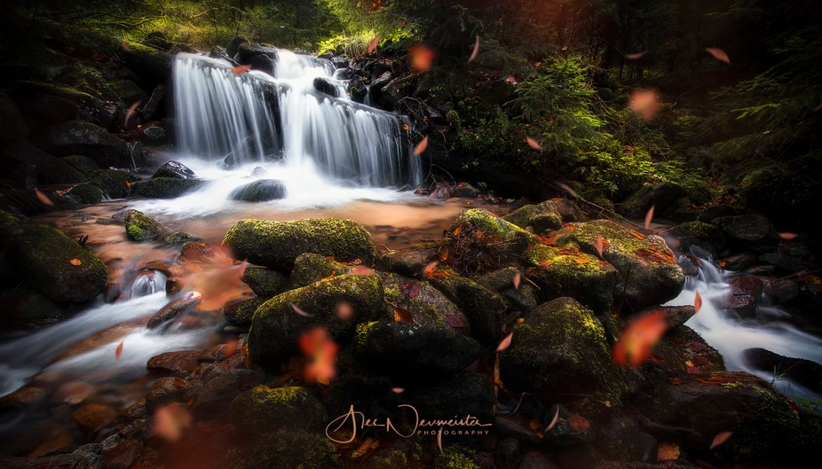 A small waterfall in the heart of the Pohorje hills - Slovenia