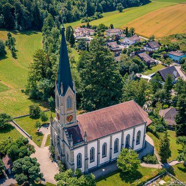 UK: The Church of Rapperswil...Built on June 29, 1862.  GER: Die Kirche von Rapperwil...Erbaut am 29. Juni 1862