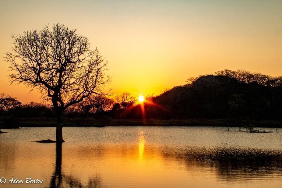 Sunset over Hippo Pools, Zimbabwe