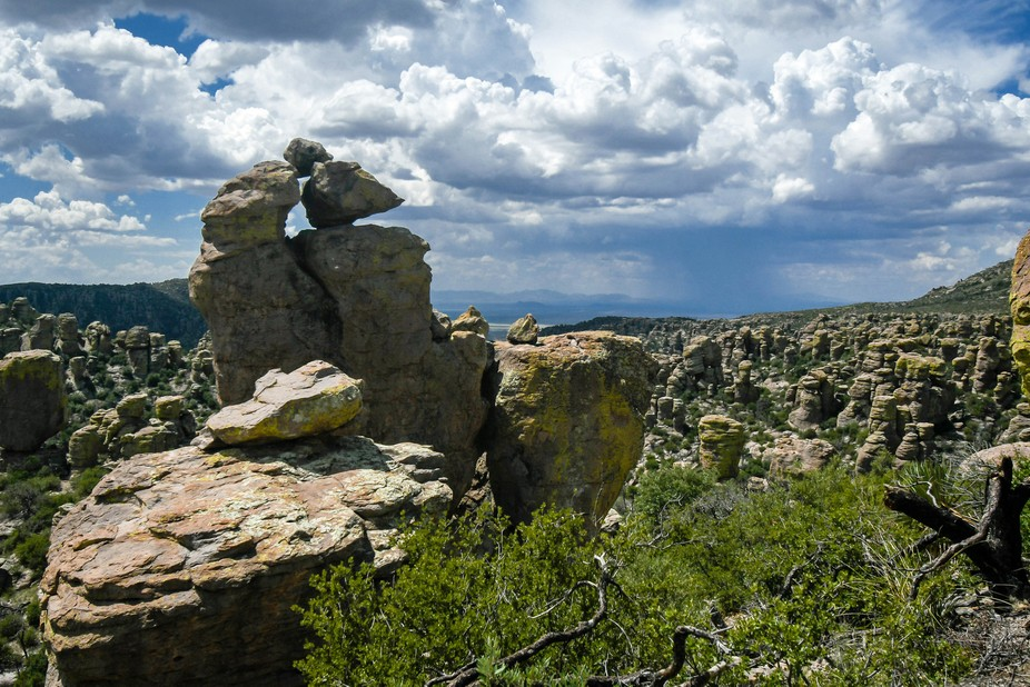 Boulders and rocks balance at Chiricahua National Monument.