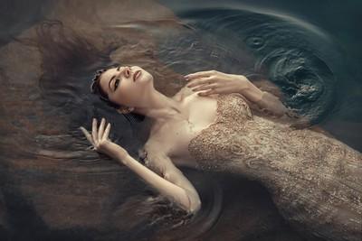 In the dark waters