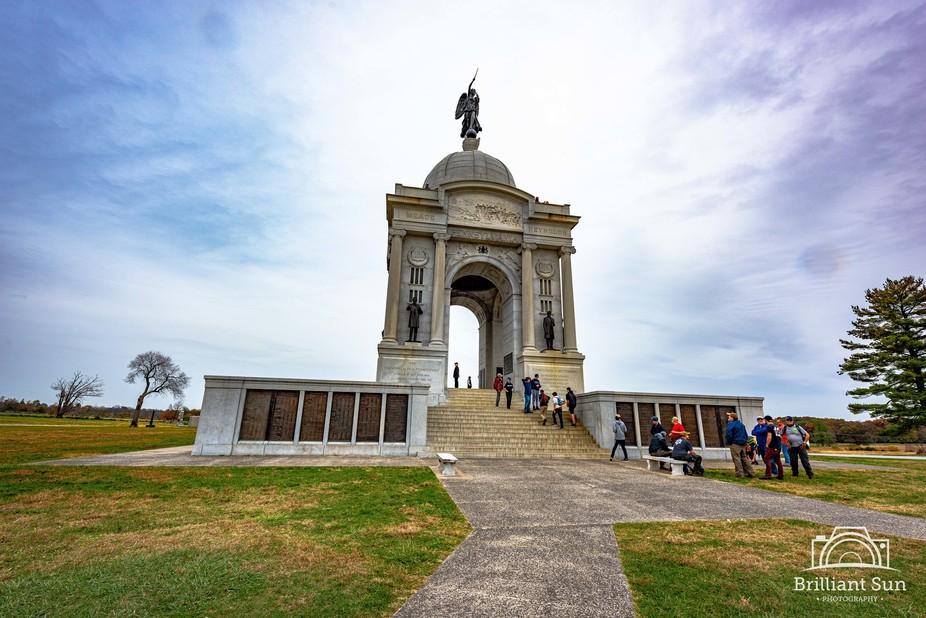 Pennsylvania monument at Gettysburg battlefield