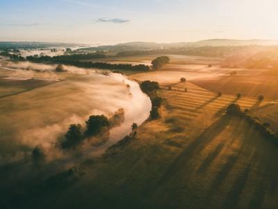 Foggy morning at the river