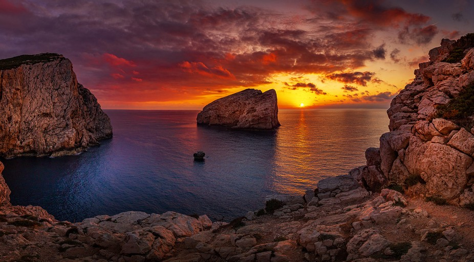 Sunset of sardinia