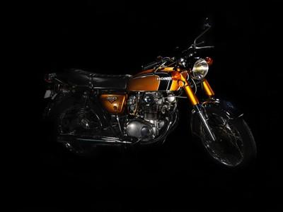 Fine art classic motorcycle
