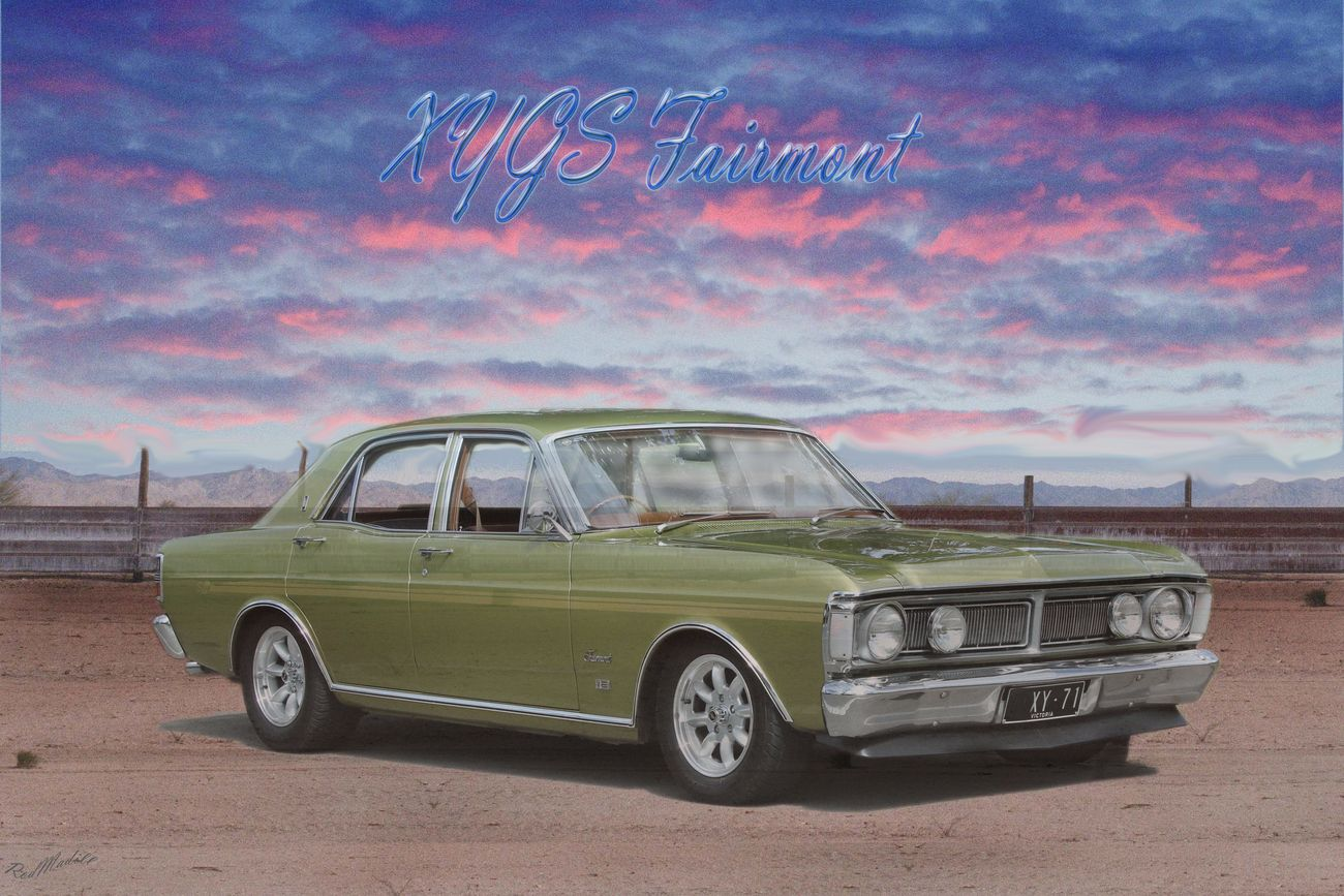 I took a photo of this car in the street and then photoshopped a nice picture to print.