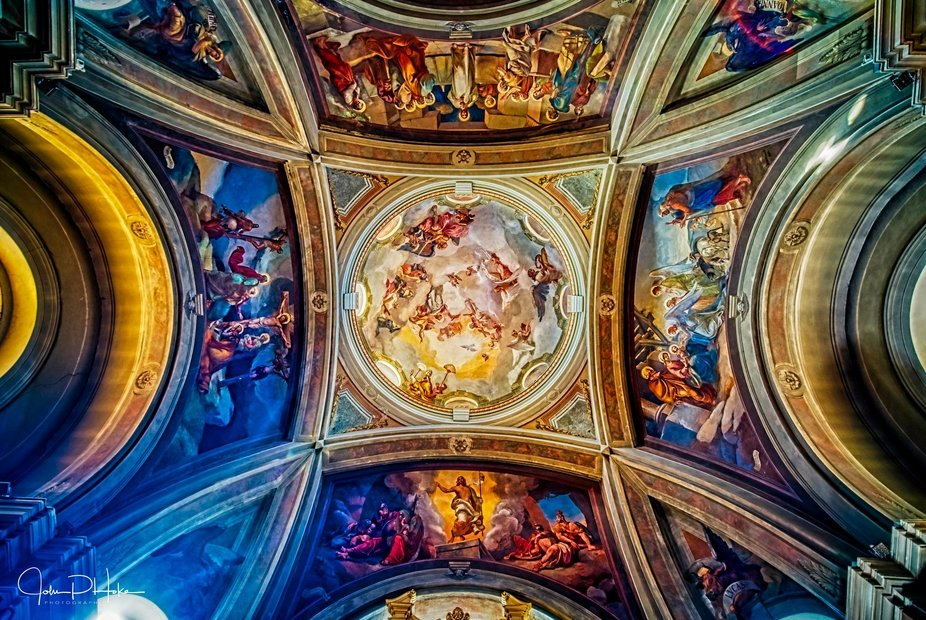 A Ceiling in one of the churches in Como Italy taken with a Sony A7Rii and Laowa 15mm