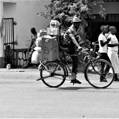 Bicycle Delivery B&W
