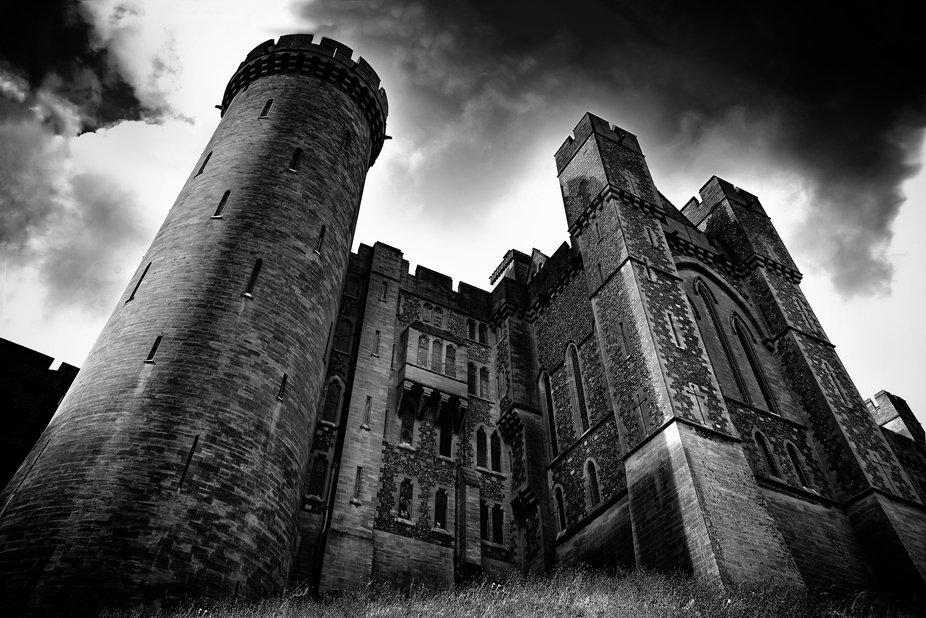 The imposing Arundel Castle