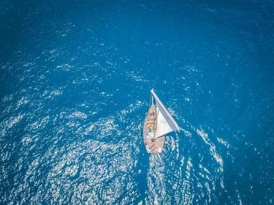 Sailing the blue desert.