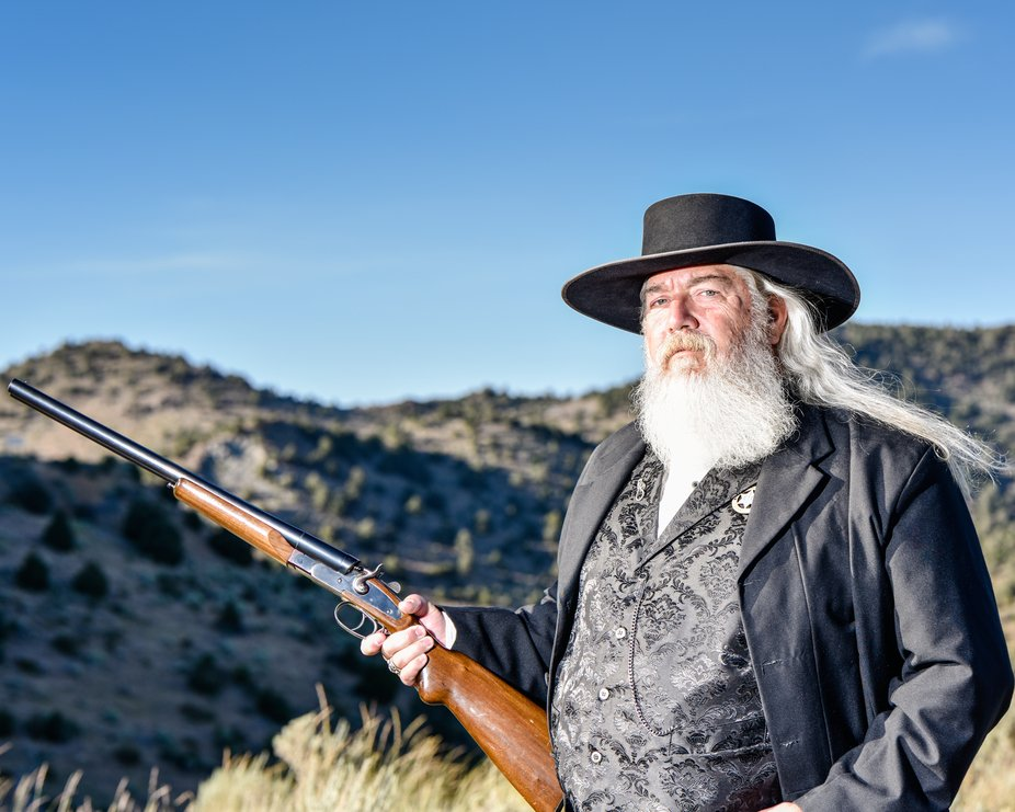 This gentleman, Wes Francis, is the new face of Virginia City NV. He now graces the the billboard...