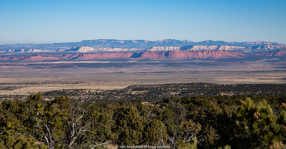 The Grand Staircase of Escalante National Monument.  All 5 plateaus can be seen here.  After the ...