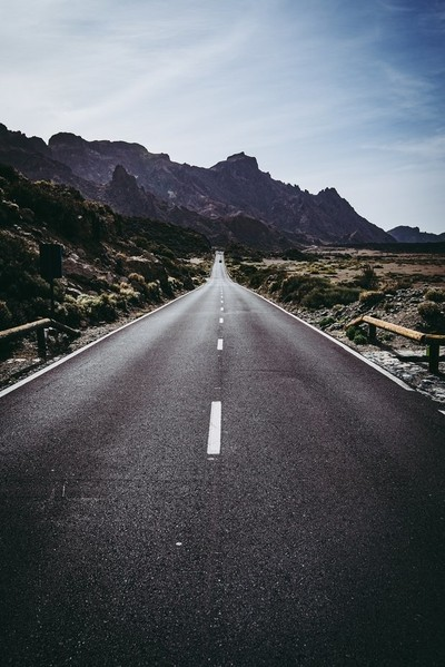 Road in Teide National Park.