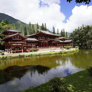 Byodo-In-Temple in Windward Oahu, Hawaii