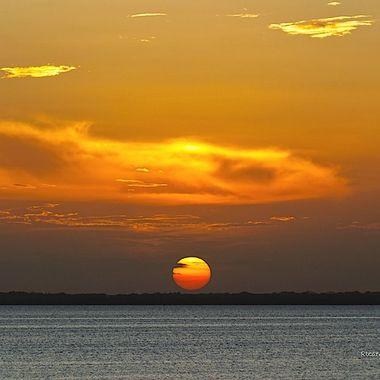 Sunset at Laguna Nichupté, Quintana Roo, México