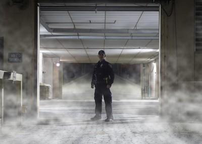 Alleyway fog