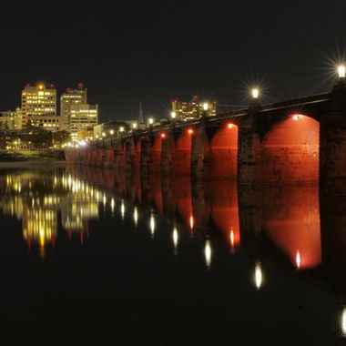 Market Street Bridge on the Susquehanna River in Harrisburg, Pennsylvania