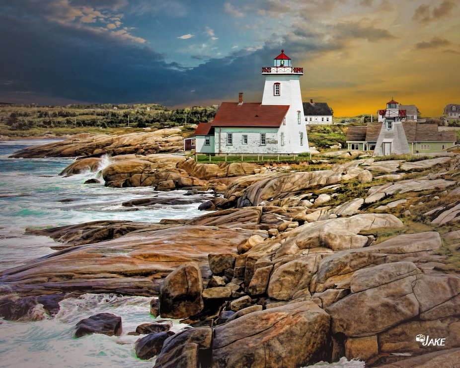 Rocky Shore Lighthouse