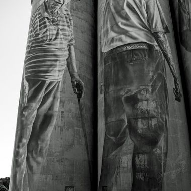 Silo Art in Portland NSW  Australia